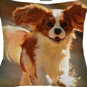 Pillow Cover- NEW- King Charles Cavalier Dog